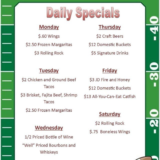 Come see us every day for some great specials just for you! #bigmikesgrillhouse #bullardtx #dailyspecials