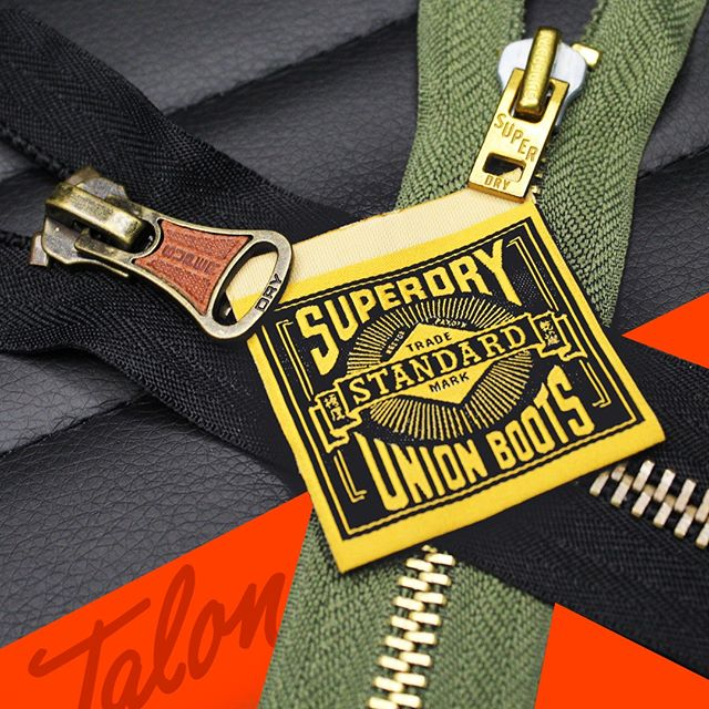QUALITY QUALITY QUALITY! It's what we guarantee our partners. 🗣 #TalonZippers #SuperDry #Details #Vintage