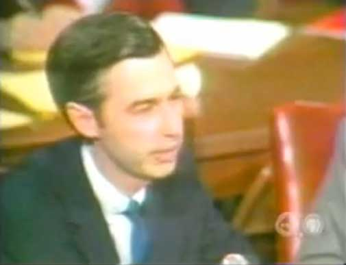 Fred Rogers testifying before Congress