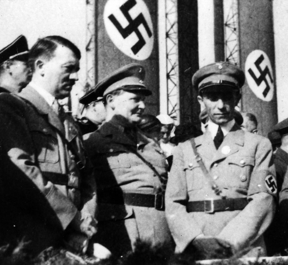 Hitler,  Göring, and Goebbels