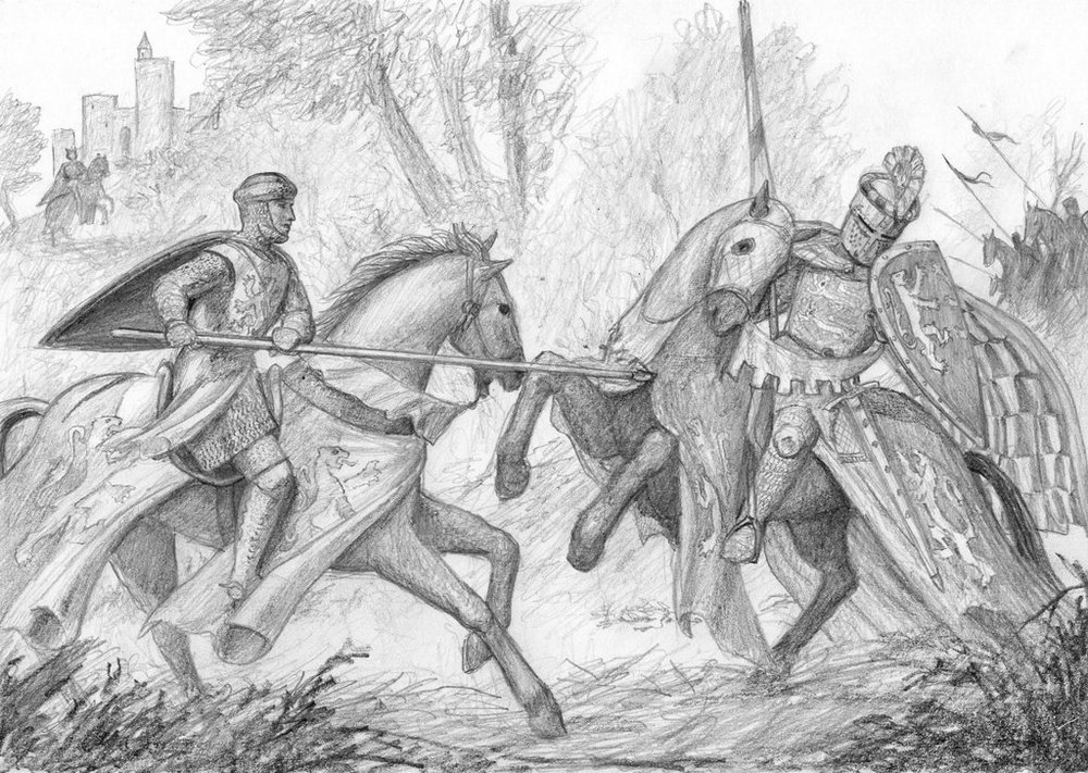 Sir William Marshal unhorsing the future King Richard I