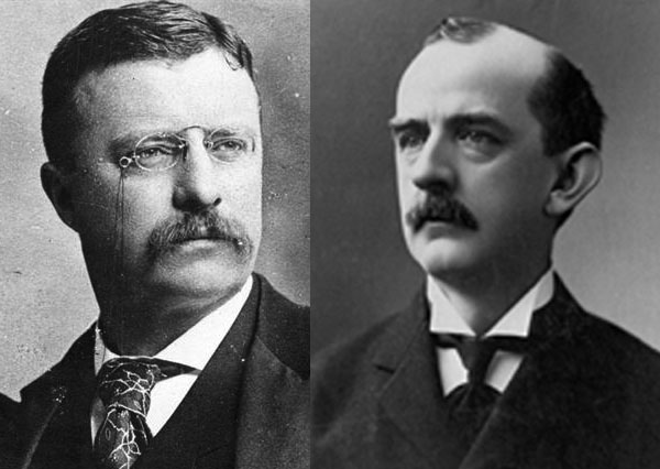 President Roosevelt (l.) and Governor Crane (r.)