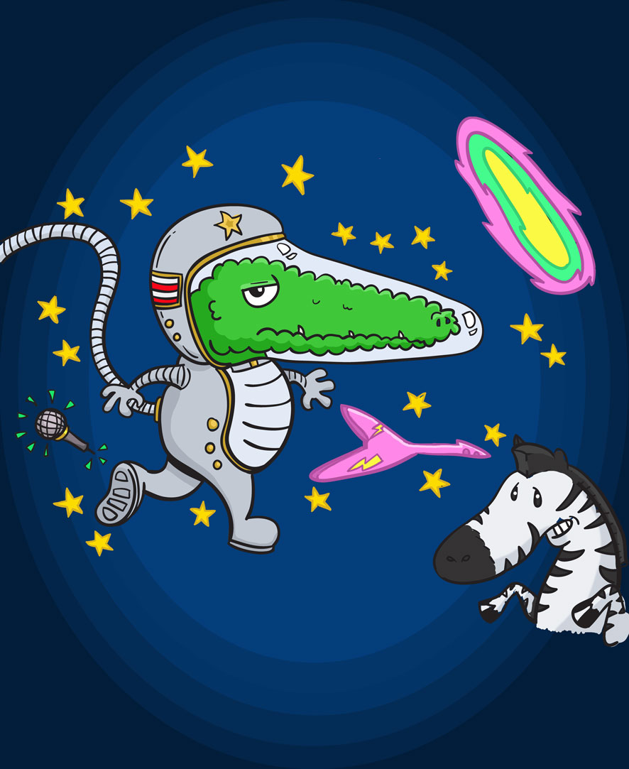'Rocket Crocodile in the World of Tomorrow'