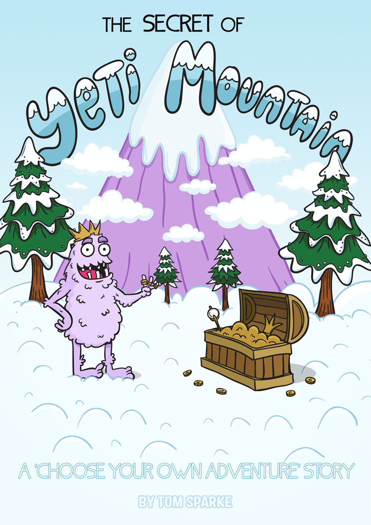'The Secret of Yeti Mountain' - Cover of comic book