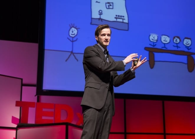 Auom Crew member Andrew Tarvin featured TEDx speaker.
