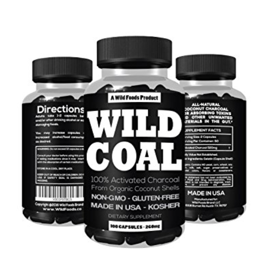 Activated Charcoal from 100% Organic Coconut Shells by Wild Foods