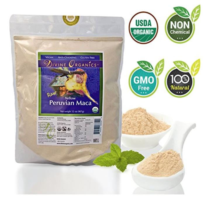 Divine Organics 2 Lb / 32 Ounce - Raw Peruvian Maca Powder