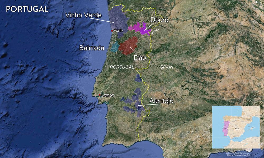 Major Portuguese Wine Regions
