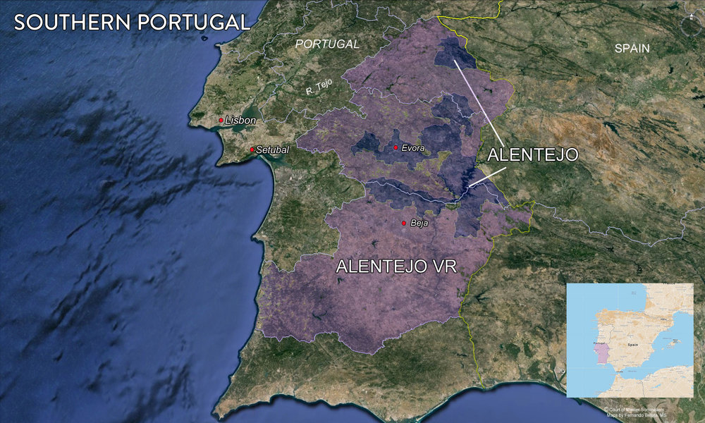 Map of Alentejo