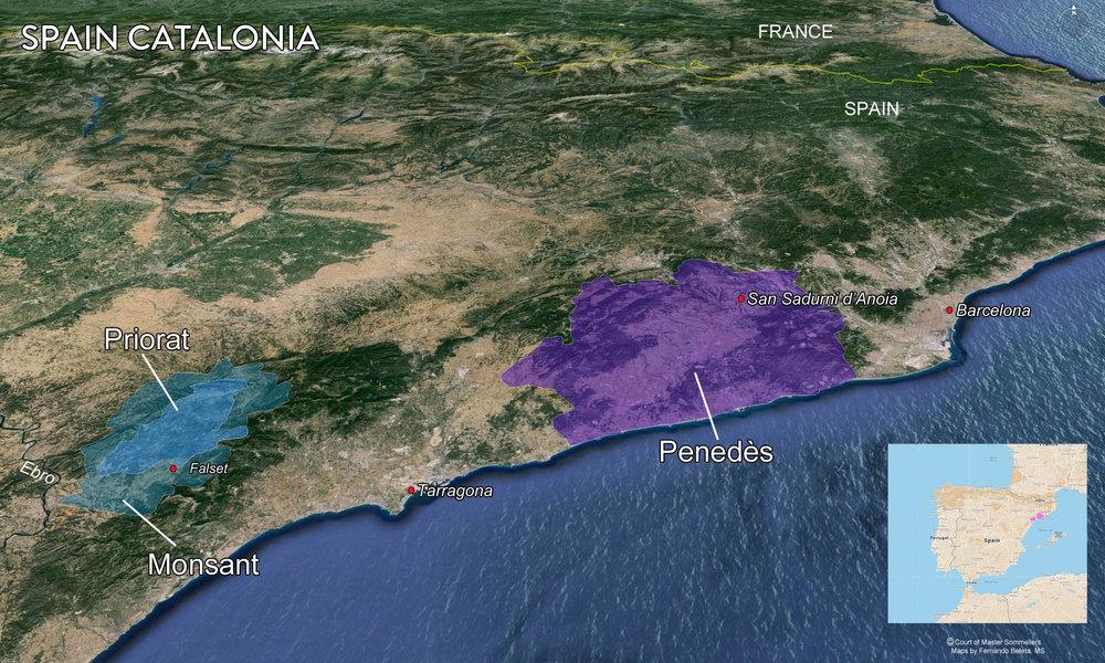 Map Catalonia