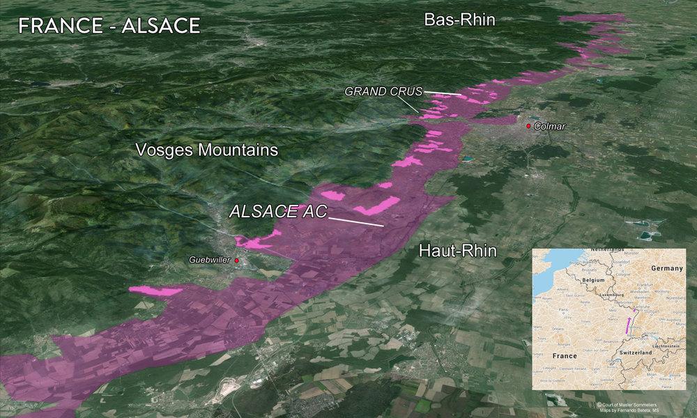 Map Alsace Terrain