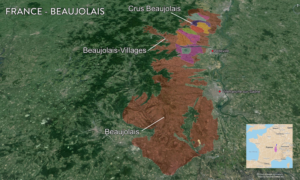 Map of Beaujolais