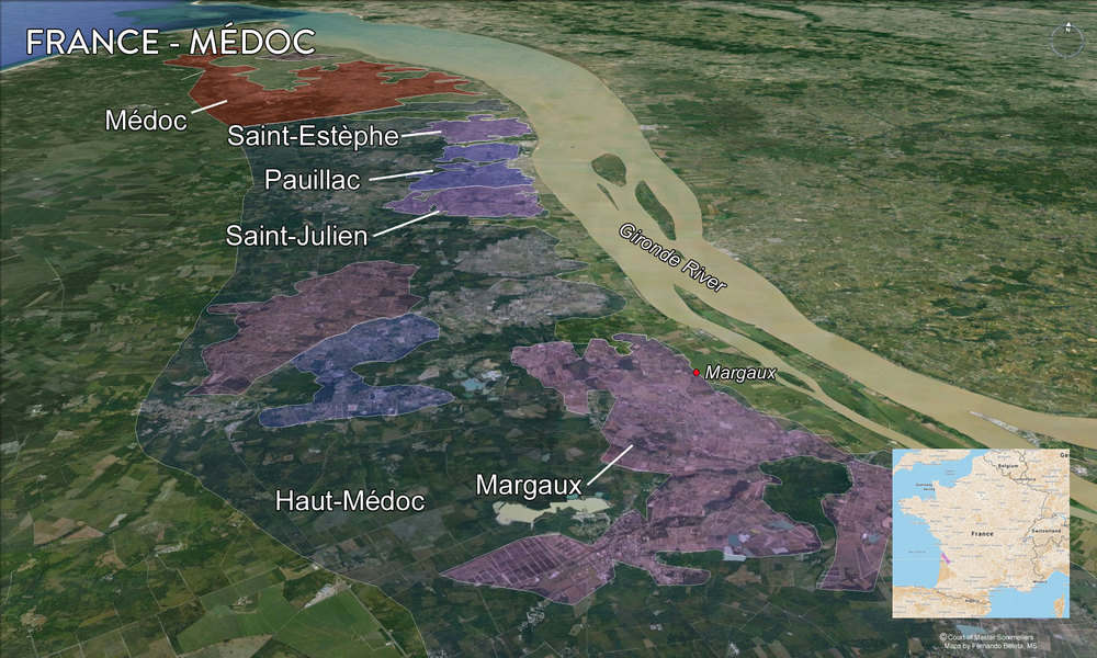 Map Medoc Overview