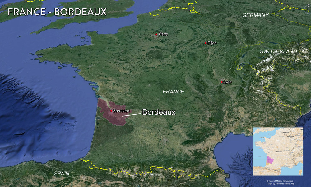 Map Bordeaux Overview