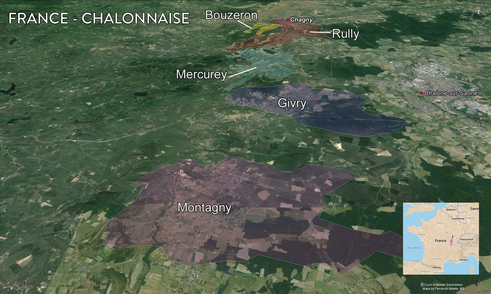Map Cote Chalonnaise