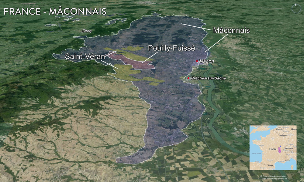 Map Cote Maconnais