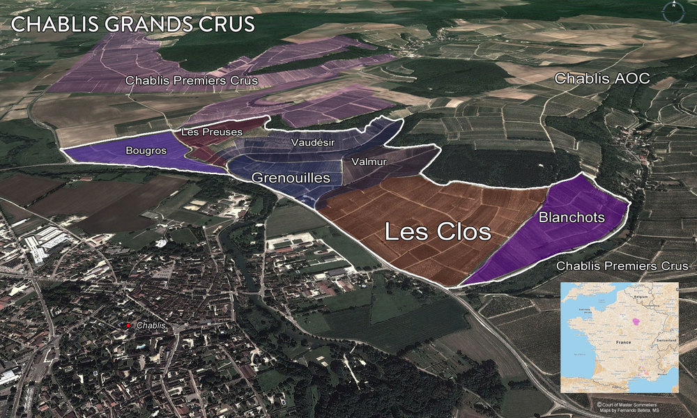 Map of Grand Cru Chablis