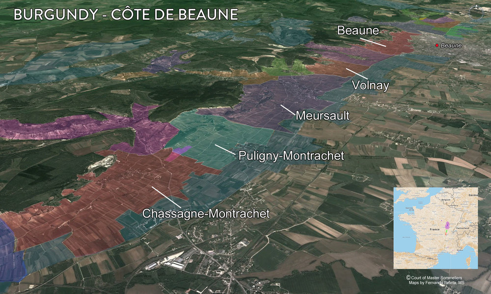 Map Cote de Beaune