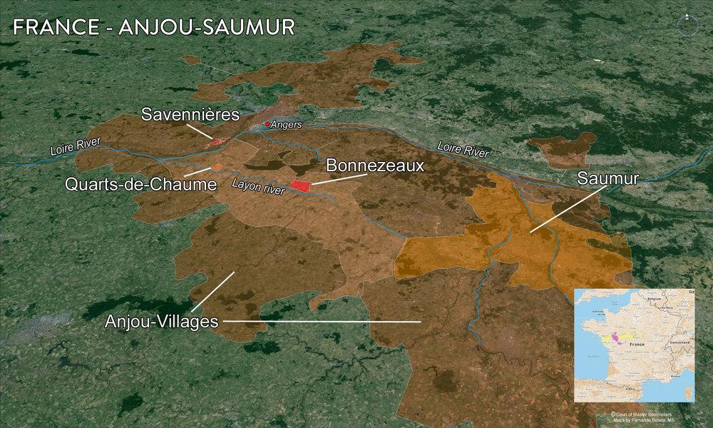 Map of Anjou-Saumur