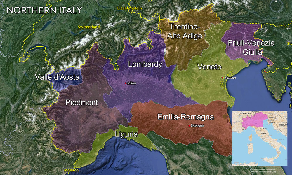 Map Northern Italy