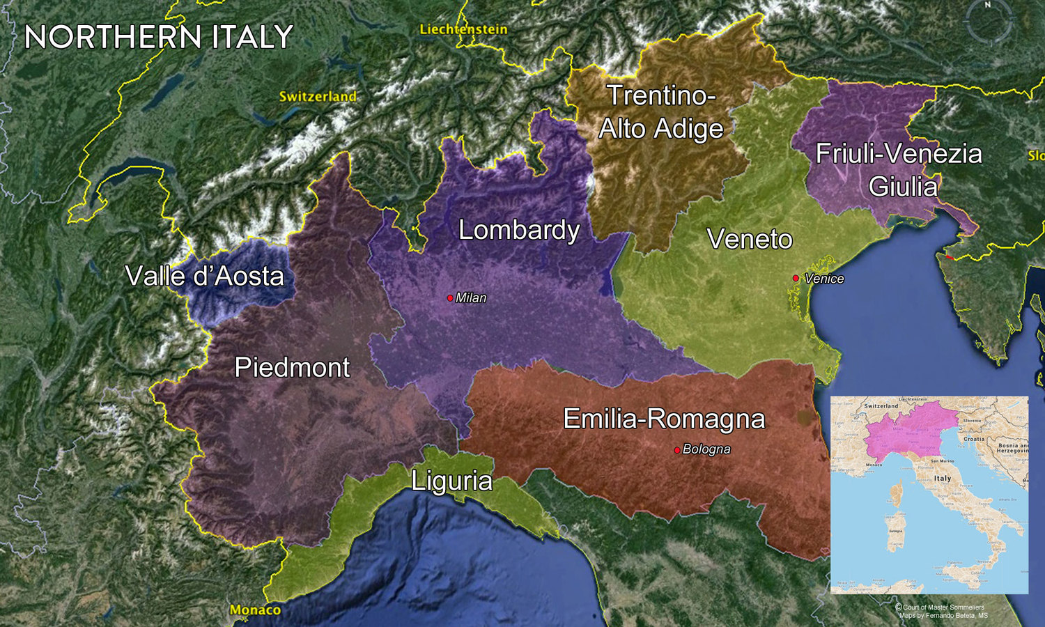 Wine Regions Italy Map.Map Italian Wine Regions Tenzing