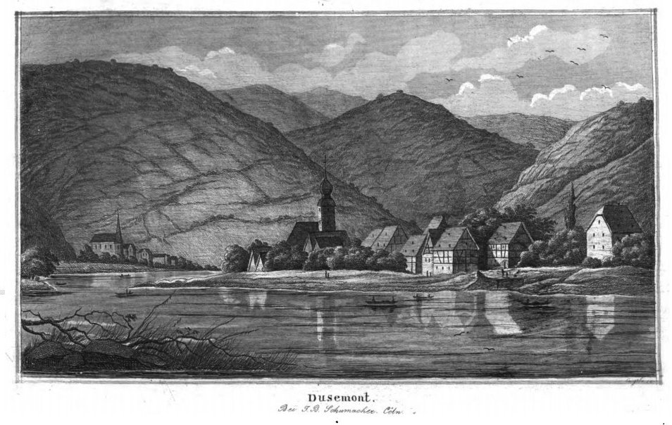 """Dusemont"" or ""Dusemond"" was the original name of the town of Brauneberg."