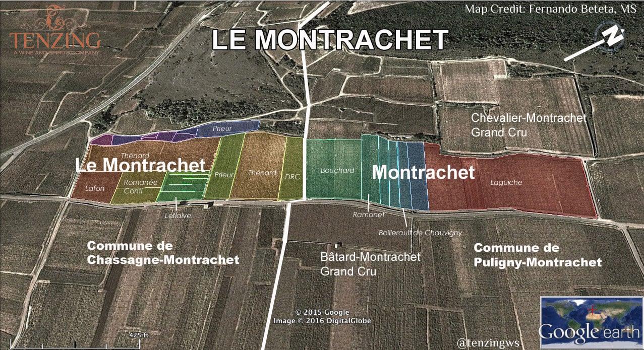Interactive Map Of Le Montrachet Vineyard By Proprietor Tenzing