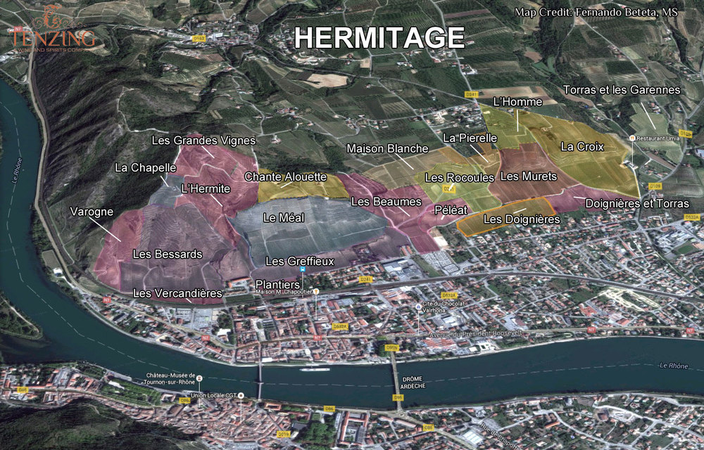 The Hermitage Hill And All Of It S Lieux Dits Tenzing