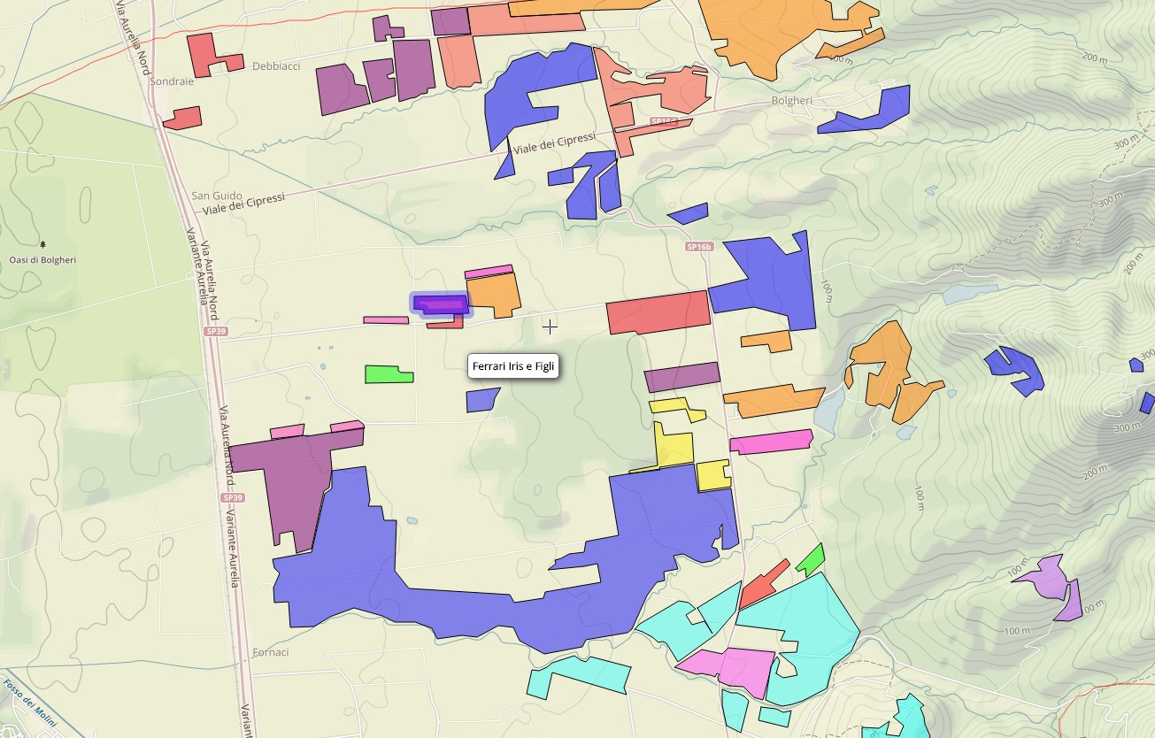 Interactive Vineyard Map Of Bolgheri With All Producers Tenzing
