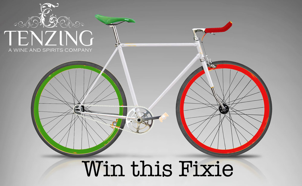 Fixie Bike Raffle at Tenzing!      Tenzing will raffle three new custom-built Fixie Bikes to registered attendees at our Wednesday, June 8th Italian Wine Tasting.    Rules:  You must be an employee of a registered Tenzing customer in the State of Illinois.  You will receive one raffle ticket at registration and must be present to win.  One Fixie bike will be raffled off every hour during the tasting. 2pm, 3pm and 4pm