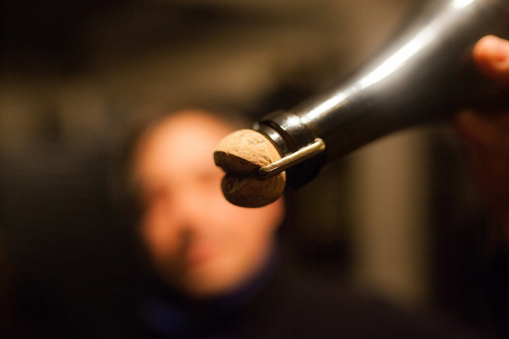 The Reflet d'Antan wines are matured with natural cork before disgorgement.