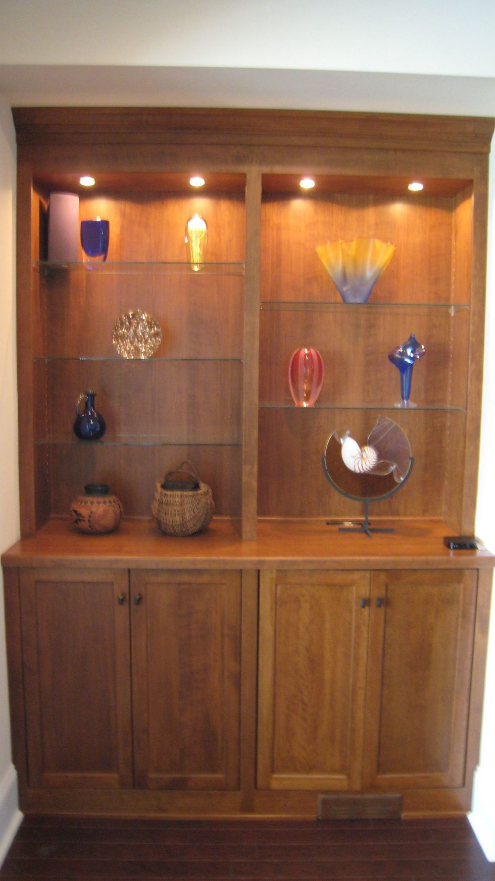 Custom built Curio Cabinet & Wildwood Artisan: Custom made cabinetry u2014 Wildwood Artisan