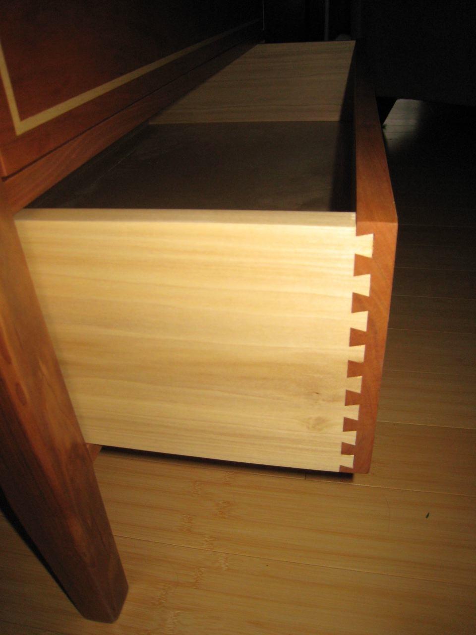 Custom dove tails handmade drawer