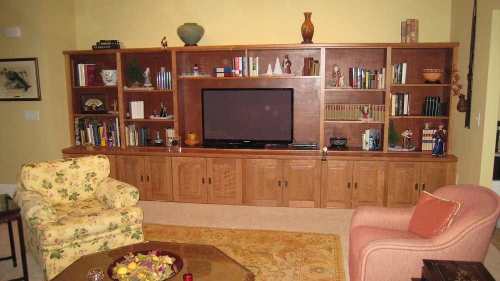 Custom Built Entertainment System and shelving