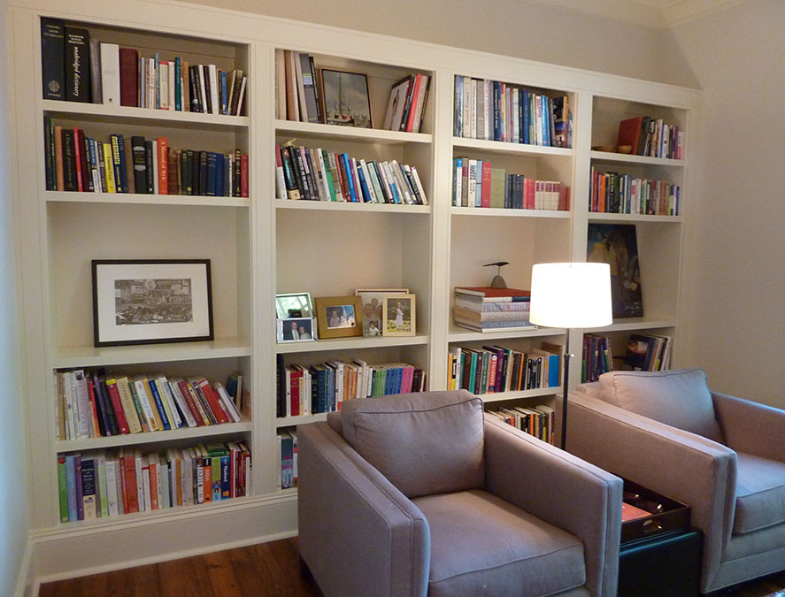 Custom Built-on Bookshelves
