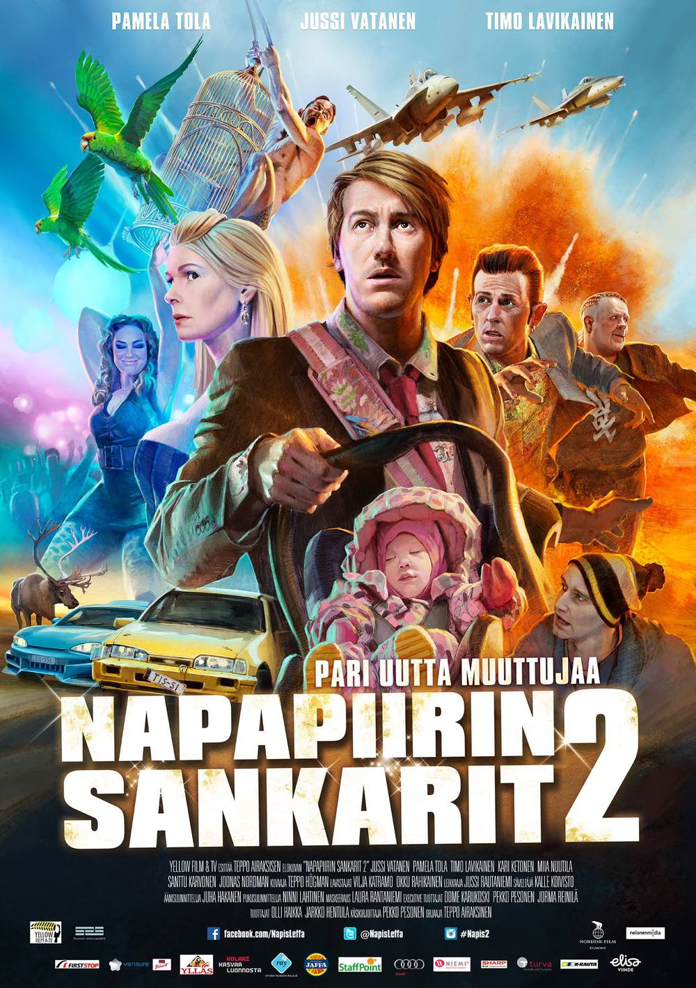Napapiirin sankarit 2 – Lapland Odyssey  dir. Teppo Airaksinen Yellow Film & Tv / 2015