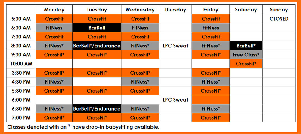 Litchfield Park CrossFit Class Schedule