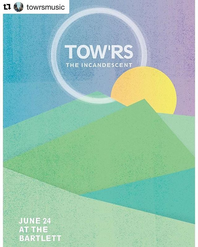 #Repost @towrsmusic ・・・ If you have friends in #Spokane tell them to come join us TONIGHT @bartlettspokane with @theincandescent