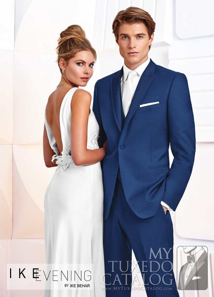 Cobalt Blue 'Greenwich' Slim Fit Tuxedo by Ike Behar Evening