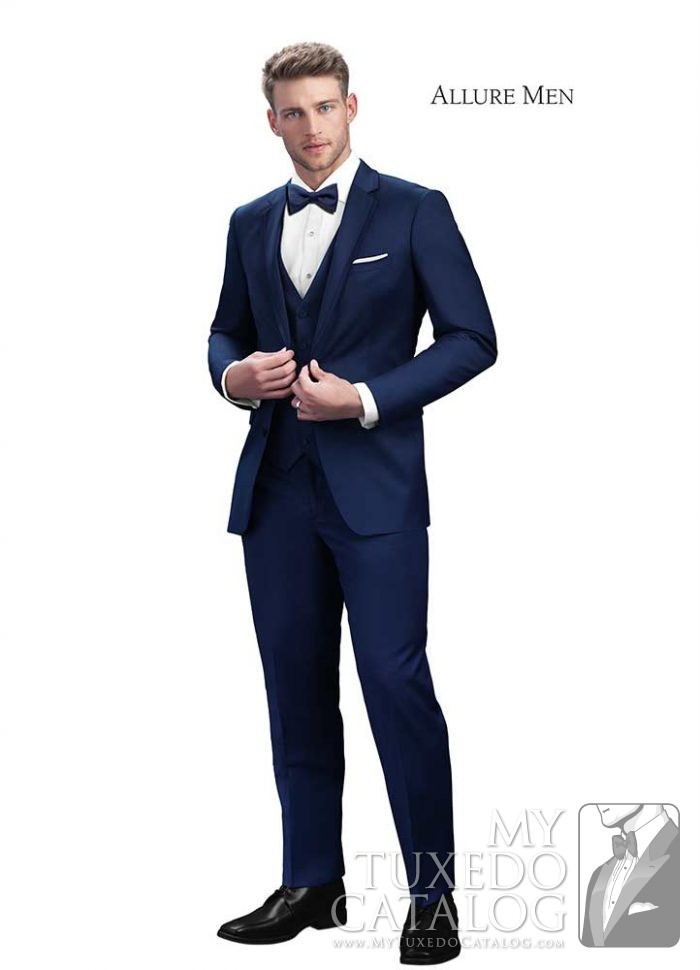Cobalt Blue 'Brunswick' Slim Fit Tuxedo by Allure Men