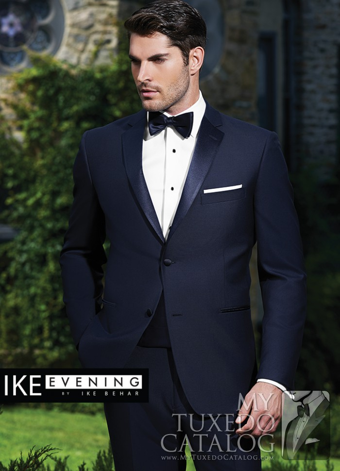 Navy 'Sebastian' Tuxedo by Ike Behar Evening