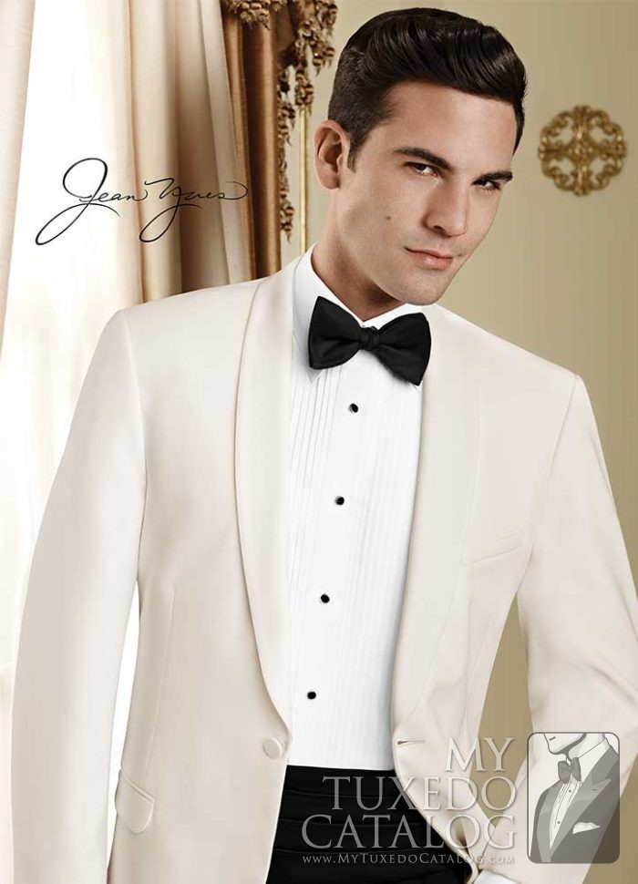 Ivory 'Modern Essential' Dinner Jacket by Jean Yves