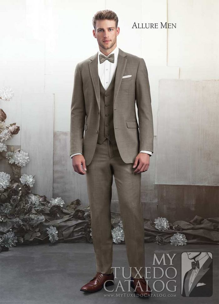 "Sandstone Beige ""Brunswick"" Tuxedo by Allure Men"