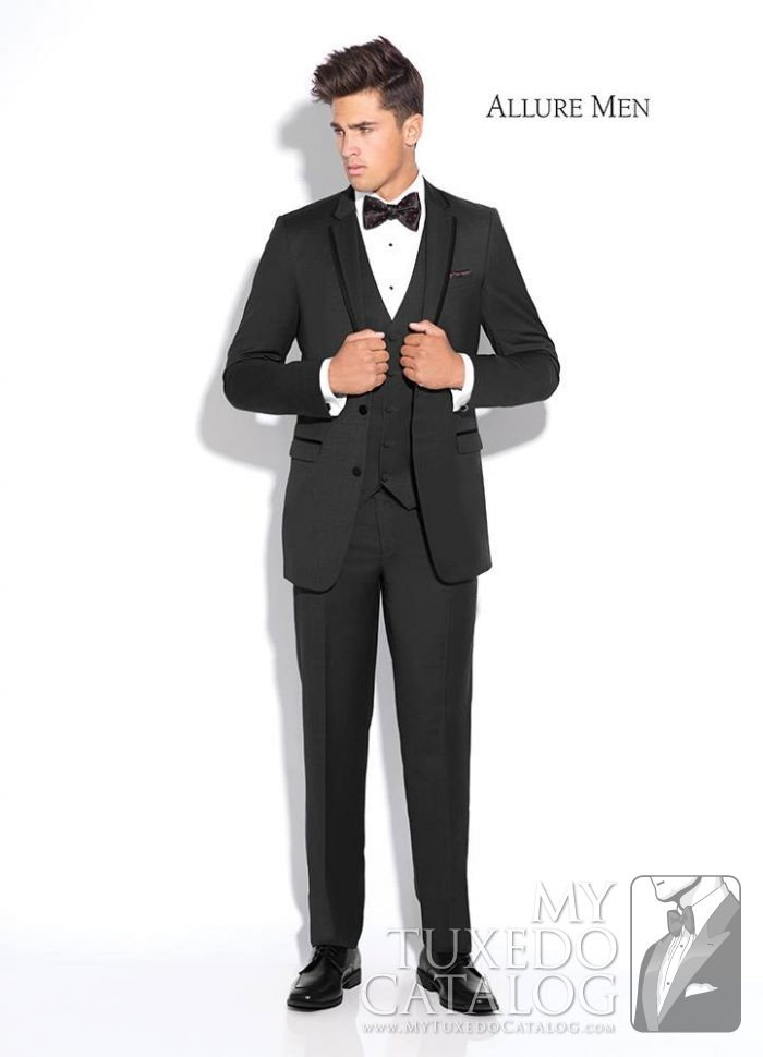 "Granite Grey ""Brunswick"" Tuxedo by Allure Men"