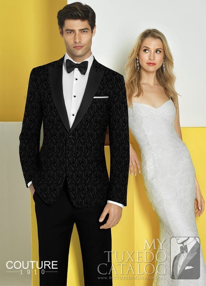 Black 'Chase' Ultra Slim Tuxedo by Couture 1910