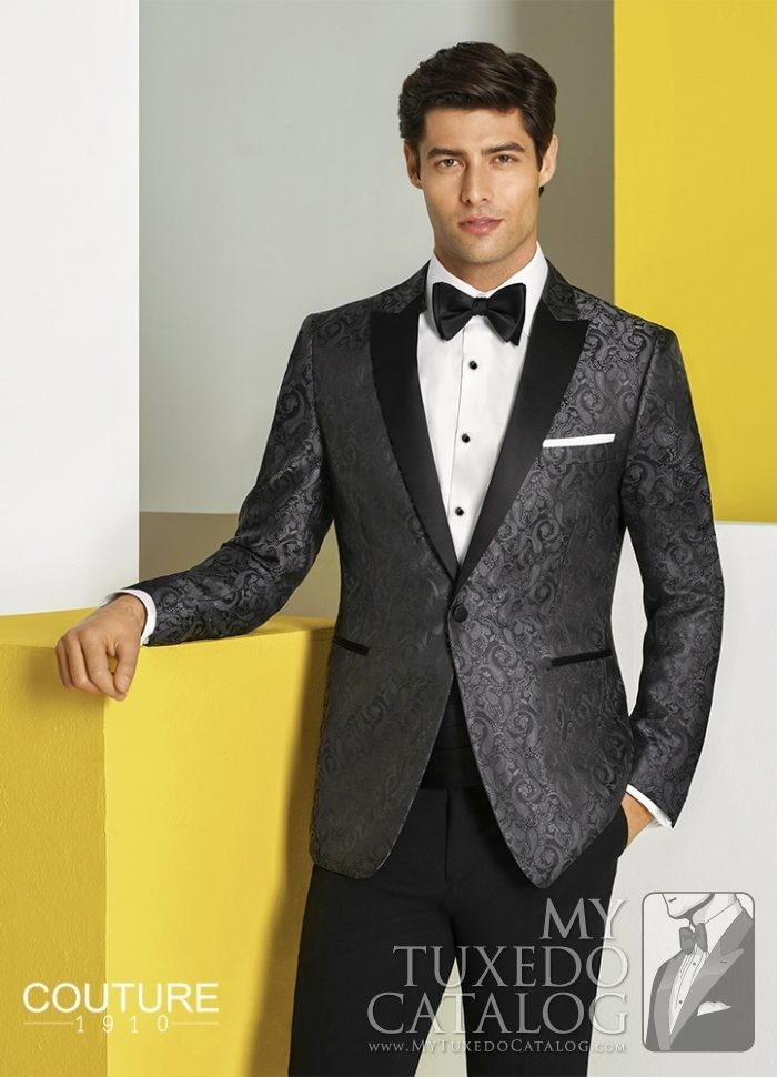 Charcoal 'Chase' Ultra Slim Tuxedo by Couture 1910