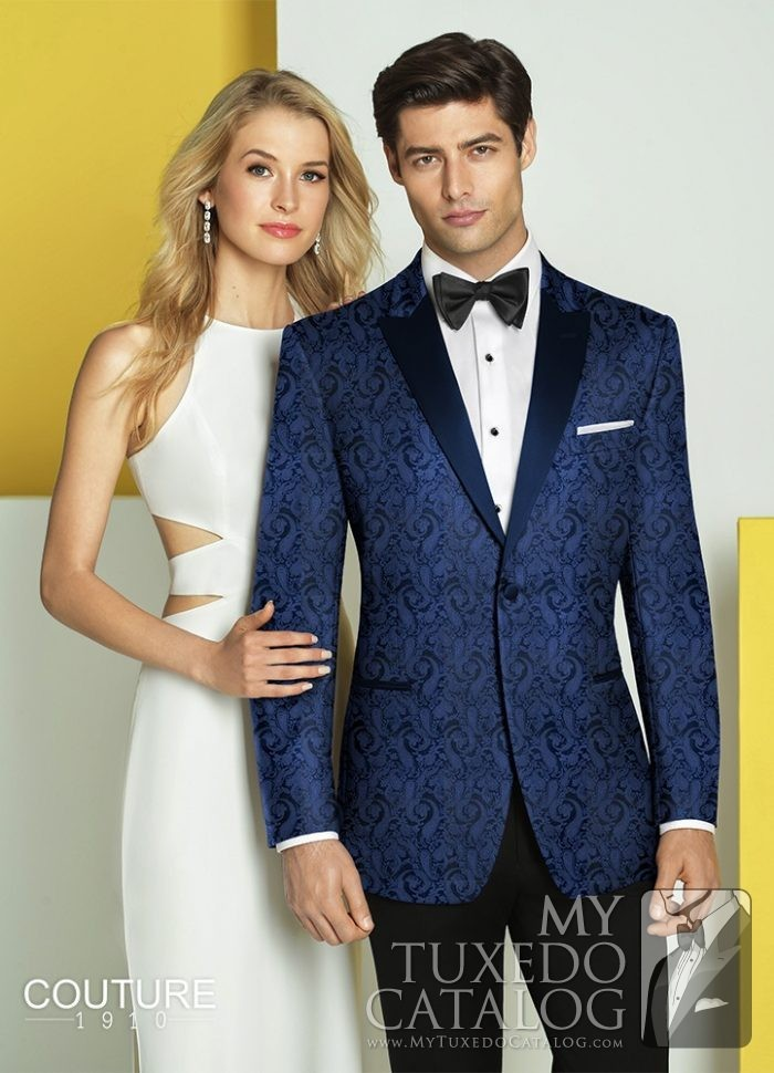 Navy 'Chase' Ultra Slim Tuxedo by Couture 1910