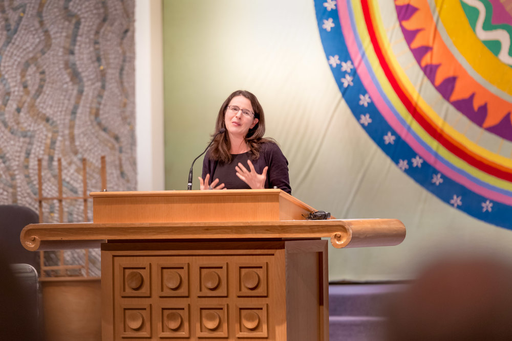 Sarah Hurwitz at Temple Israel (5/17)  photo by Jamie Feldman