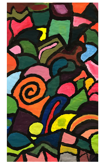 Black Line Painting: Exploration of Color and Composition   4th Grade  Prospect Hill Elementary School