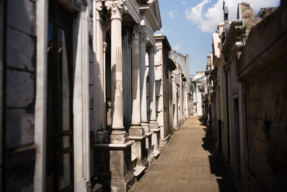 Beautiful Recoleta cemetery featuring you guessed it, the tomb of Eva Peron.